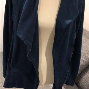 H by bordeaux Tops - H By Bordeaux Fleece Moto Jacket